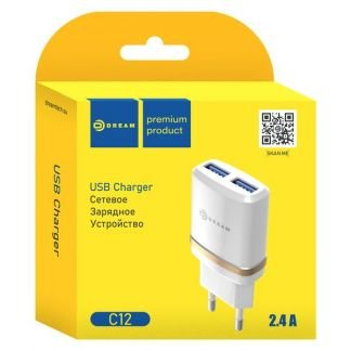 Сетевое зарядное устройство dream C12 2USB, 2,4A . телефон +79189507698 купить на сайте объявления Армавир онлайн