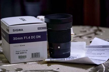 Sigma 30mm f1.4 dc dn sony e . телефон +79288476797 купить на сайте объявления Армавир онлайн